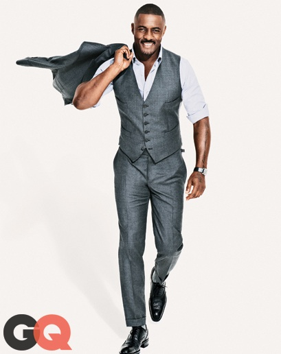 Idris Elba in Tom Ford's 3-Piece Grey-Toned Suit