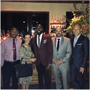 From Left: Jonathan De Los Santos, Joy Sarion Cobias, Seon Shemoy Walker, Michael Greenberg & Blue Hill at Stone Barns' General Manager, Philippe Gouze