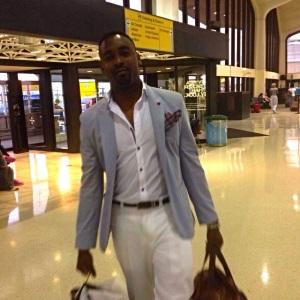 SB Blazer - Zara| Ralph Lauren Trousers| H&M Oxford Shirt| Pocket Square|  Photo Credit - Michael Dinoko